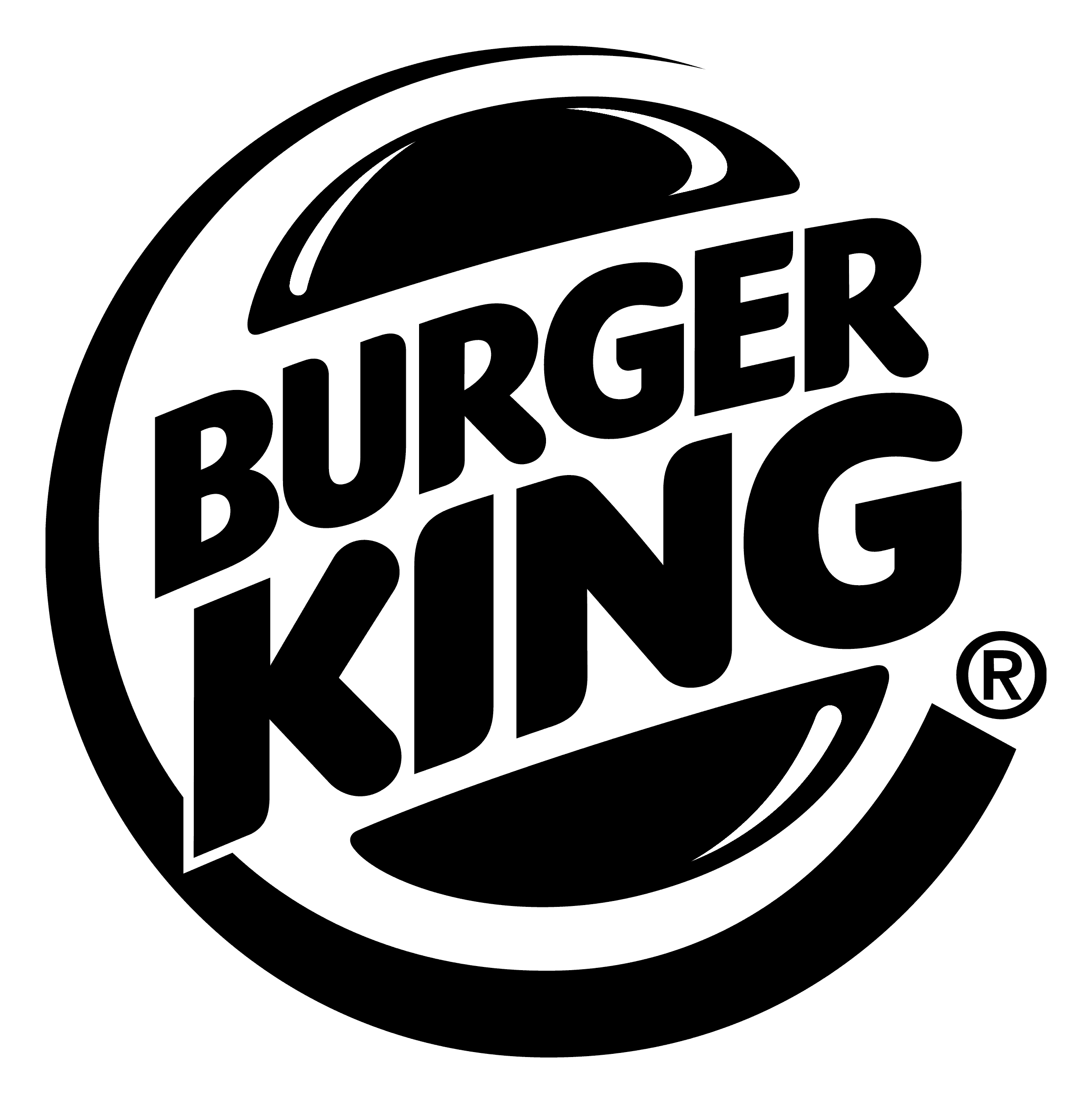 Burger King logo black and white
