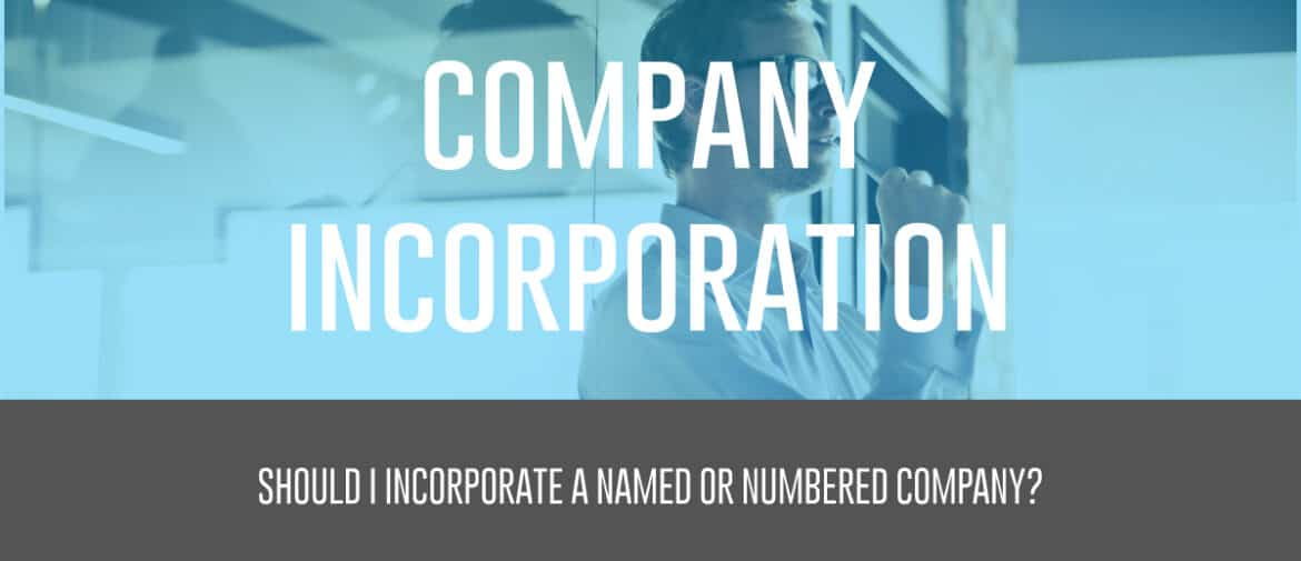 name or numbered company
